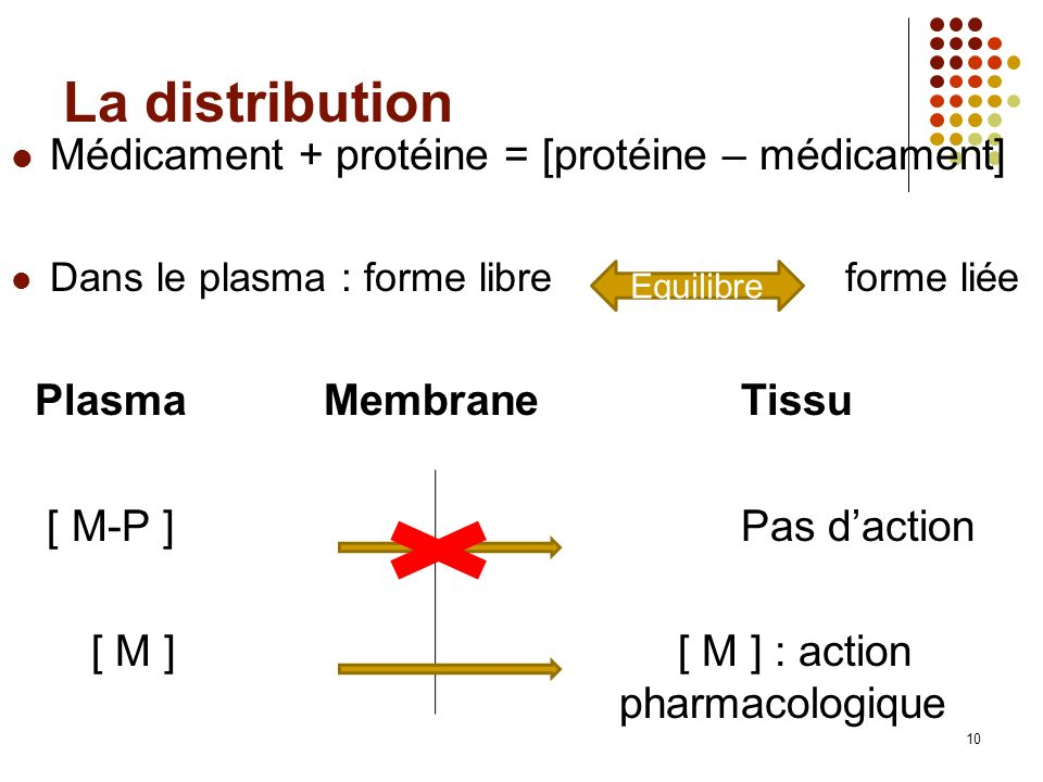 [ M ] [ M ] : action pharmacologique